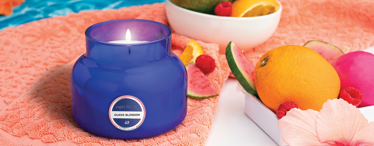 Weekend vibes tropical scented candles
