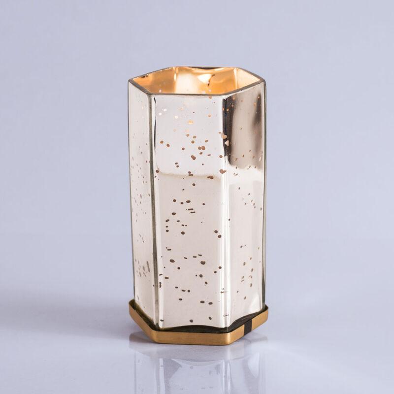 Volcano Mercury Hexagon Candle, 17 oz When Lit image number 3