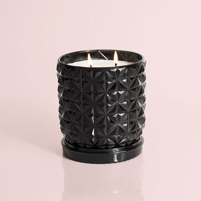 Smoked Clove & Tabac Jumbo Gilded Faceted Candle, 30 oz
