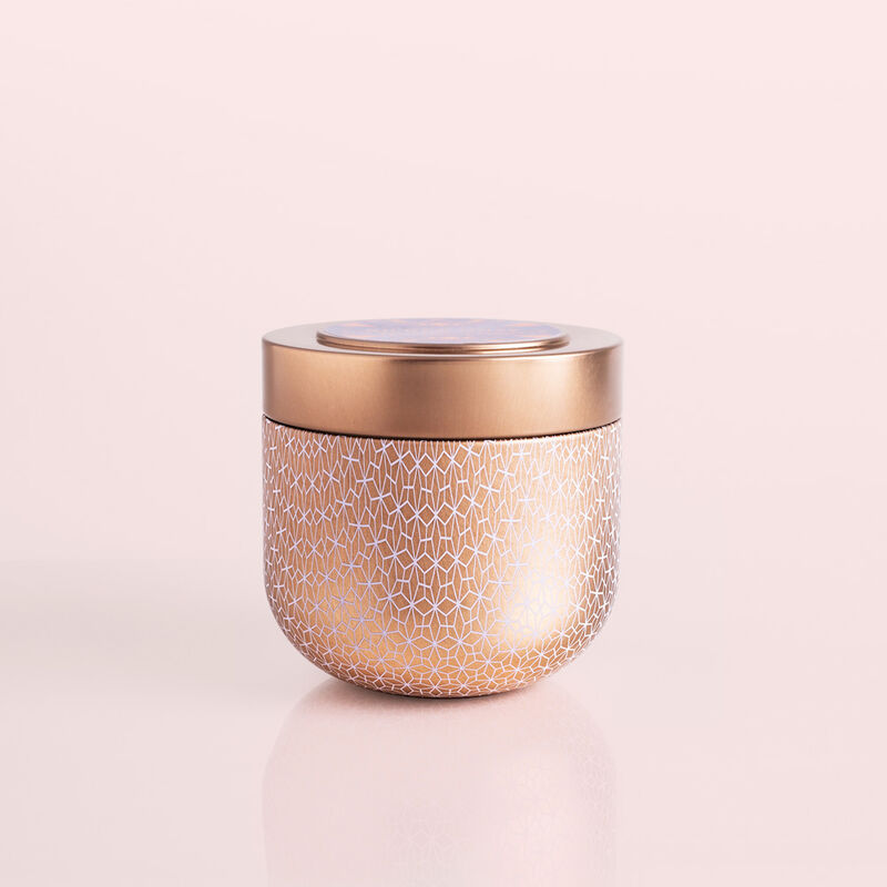 Pink Grapefruit & Prosecco Gilded Candle Tin, 12.5 oz Candle with Lid image number 0
