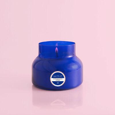 Capri Blue Pomegranate Citrus Blue Signature Jar, 19 oz Candle without Lid
