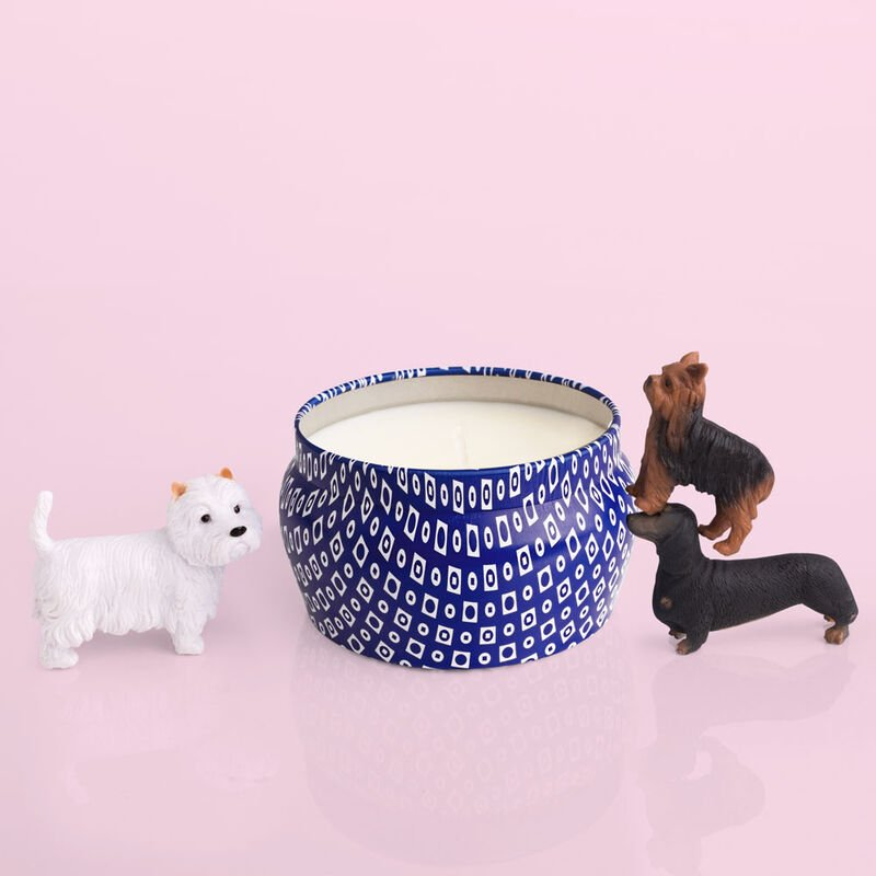 Modern Min Blue Mini Cute Candle product with puppies image number 3