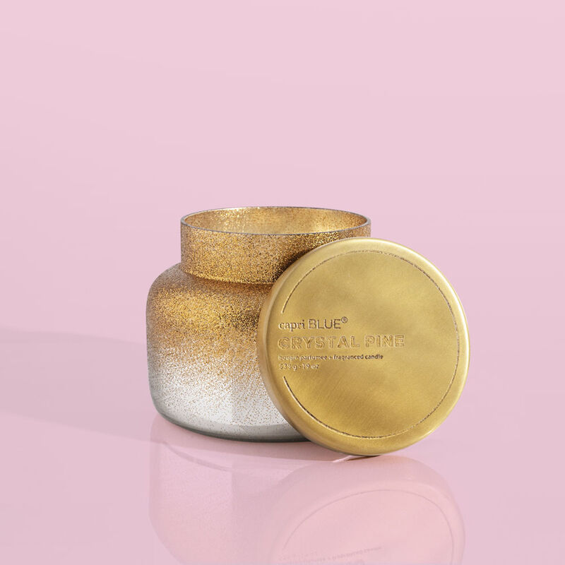 Crystal Pine Glitz Signature Jar Candle, 19oz Alt Product View image number 1