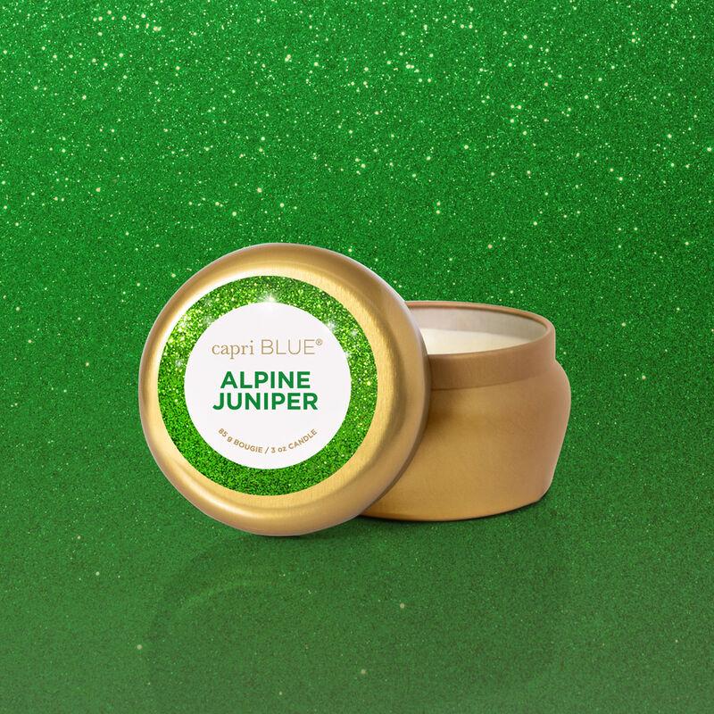 Alpine Juniper Glam Mini Tin Candle Surprise image number 1