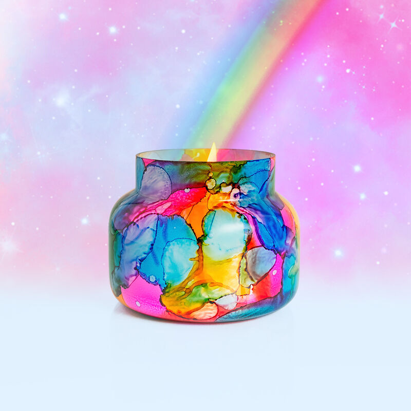 Volcano Rainbow Watercolor Signature Candle Jar, 19 oz Surprise and Delight Image image number 4