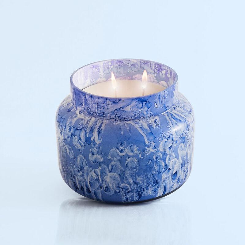 Blue Jean Watercolor Jumbo Jar, 48 oz product when lit image number 3
