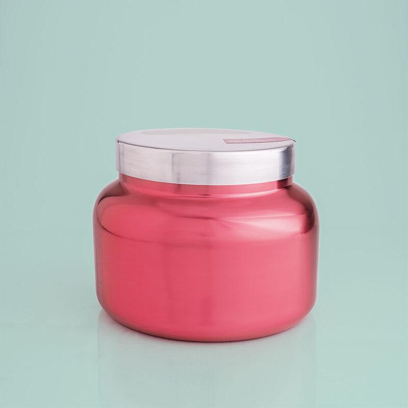 Capri Blue Metallic Pink Peppermint Jumbo Jar, 48 oz - lid on  image number 0