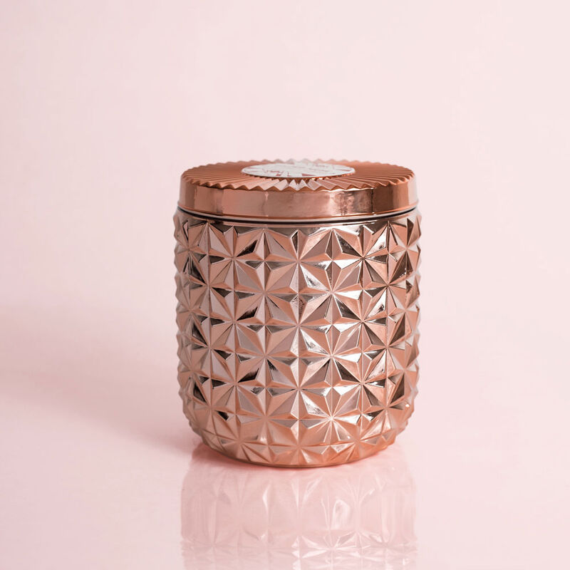 Pink Grapefruit & Prosecco Jumbo Gilded Faceted Candle Jar, 30 oz Candle with Lid image number 0