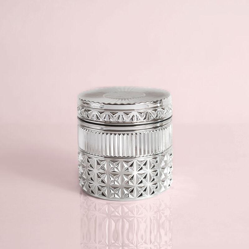 Citrus & Violet Haze Gilded Faceted Candle Jar, 11 oz Candle with Lid Alt Shot image number 1