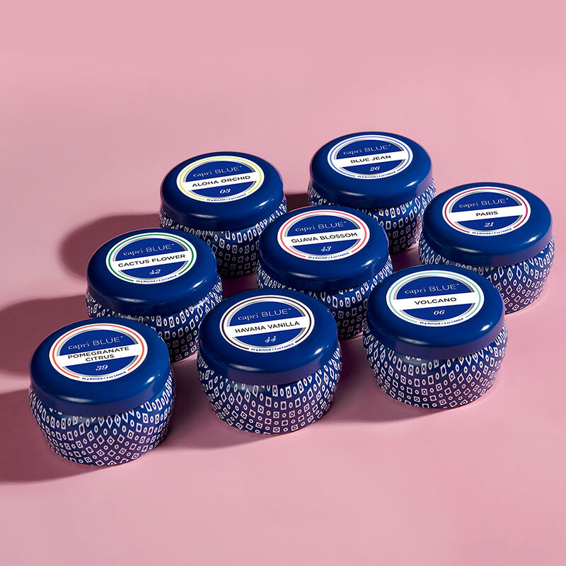 Blue Signature Mini Tin Kit full line up of all 8 fragrances image number 0