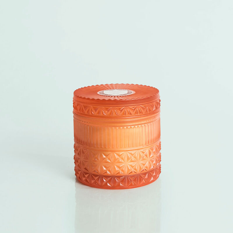 Pomegranate Citrus Faceted Candle Jar, 11 oz Candle with Lid image number 0