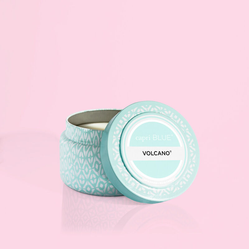 Volcano Aqua Printed Travel Candle Tin Alt Product View image number 1