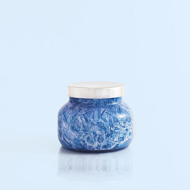 Blue Jean Watercolor Petite Jar, 8 oz product view image number 0