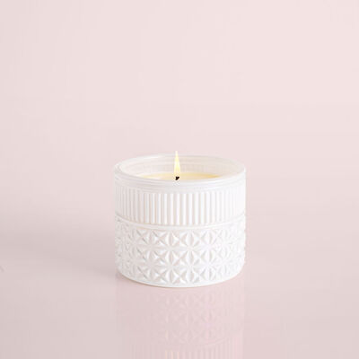 Volcano White Opal Gilded Faceted Candle Jar