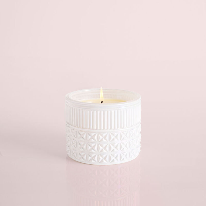 Volcano White Opal Gilded Faceted Candle Jar image number 1