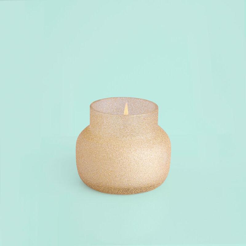Pumpkin Dulce Glam Petite Jar, 8 oz product when lit image number 2