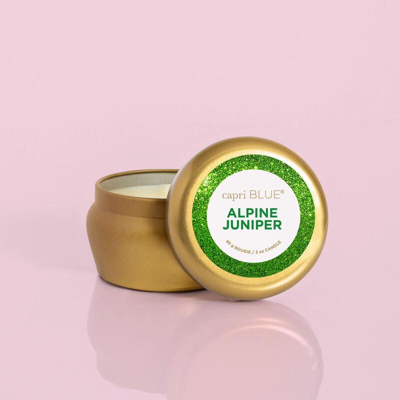Alpine Juniper Glam Mini Candle, 3oz with Lid image number 2