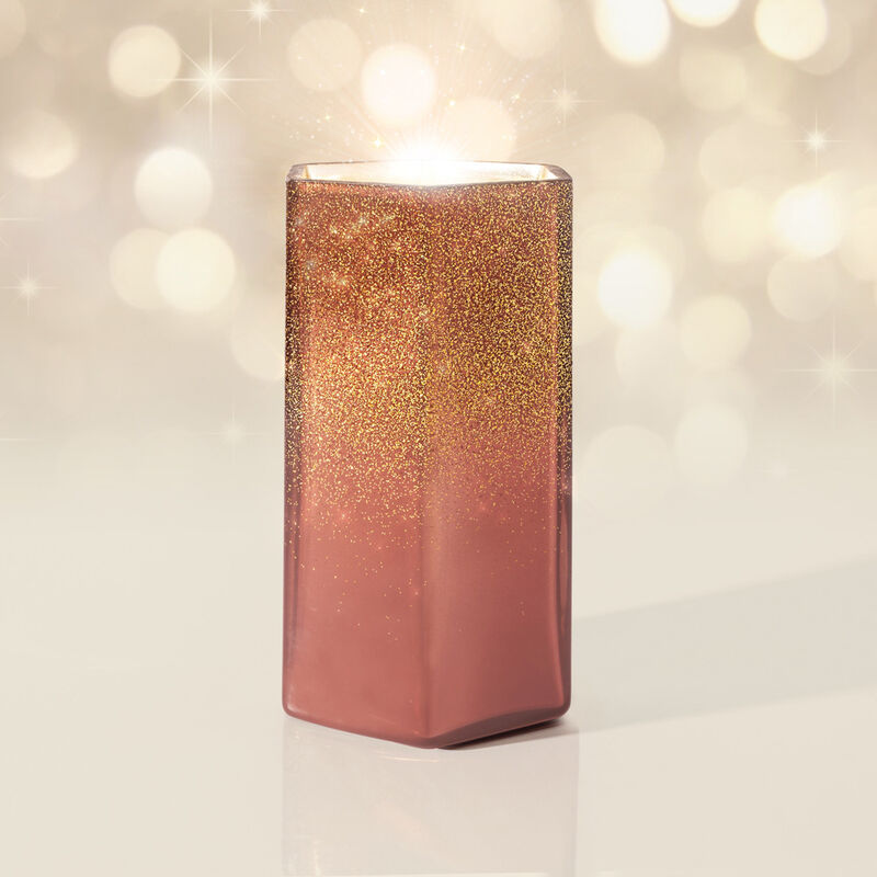 Tinsel & Spice Glitz Hexagon Candle, 17 oz product with magic image number 3