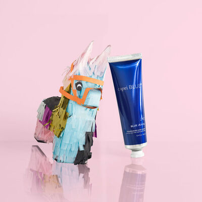 Blue Jean Hand Cream, 3.4 oz front view with pinata