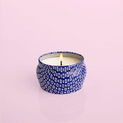 Guava Blossom Blue Mini Candle Burning