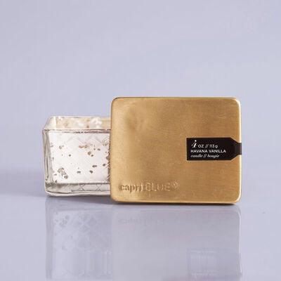 Havana Vanilla Mercury Jewel Box Candle, 4oz with Label and Lid