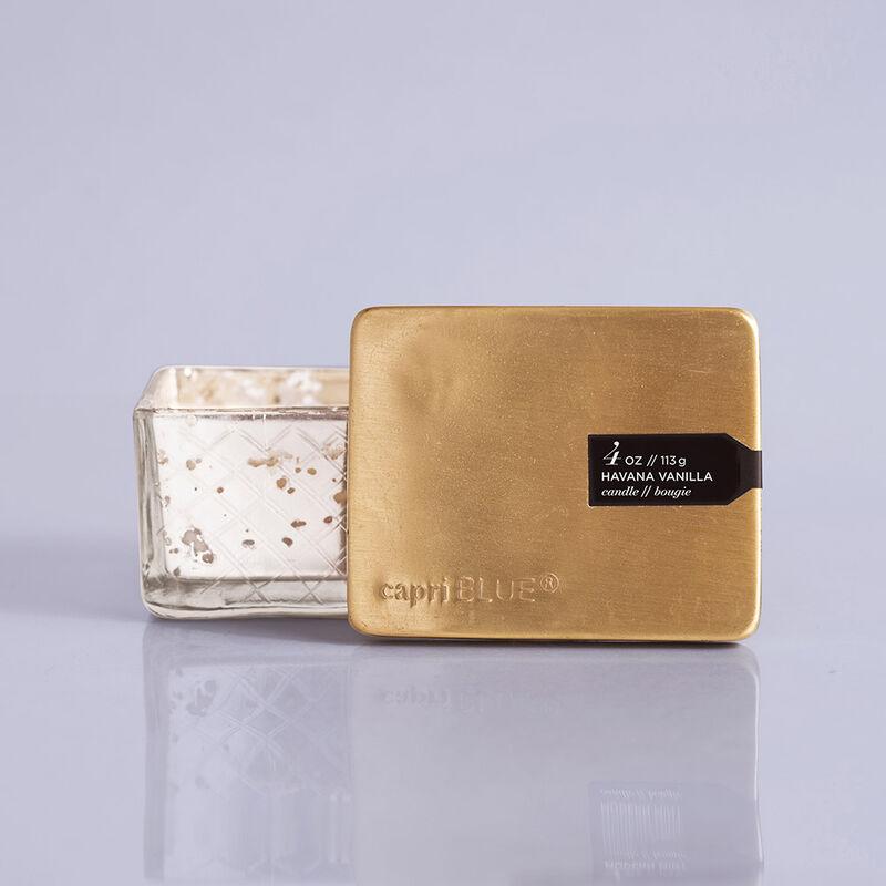 Havana Vanilla Mercury Jewel Box Candle, 4oz with Label and Lid image number 1