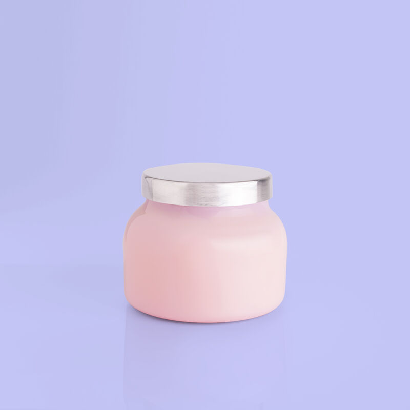 Volcano Bubblegum Petite Candle Jar, 8 oz rear product view image number 2