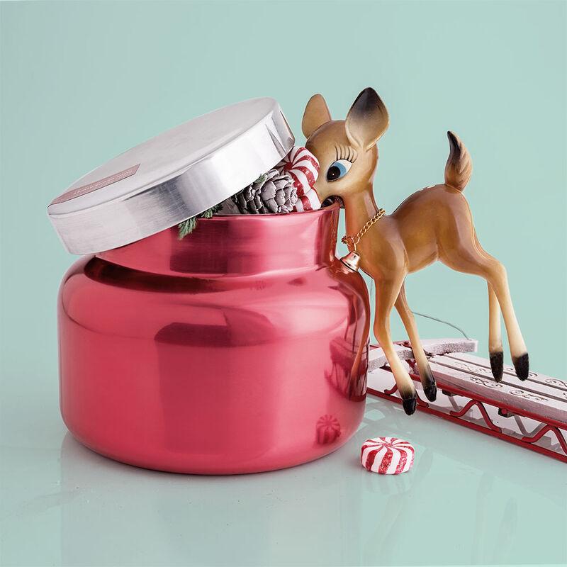 Capri Blue Metallic Pink Peppermint Jumbo Jar, 48 oz - surprise raindeer image number 1