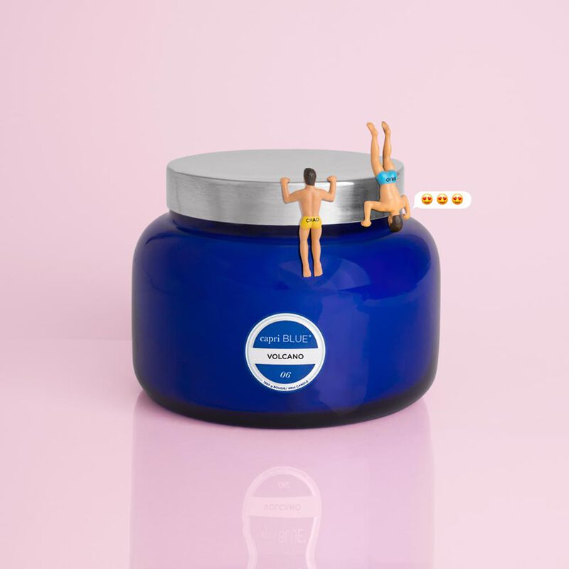 Volcano Blue Jumbo Candle Jar, 48 oz with Surprise image number 2
