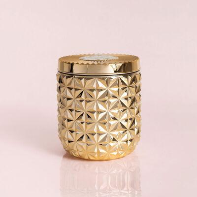 Exotic Blossom & Basil Jumbo Gilded Faceted Jar, 30 oz