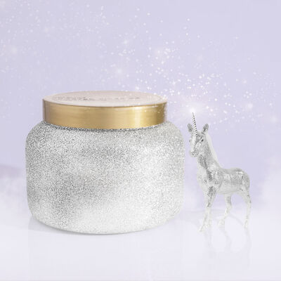 Frosted Fireside Glam Jumbo Candle Jar, 48 oz product in winter wonderland