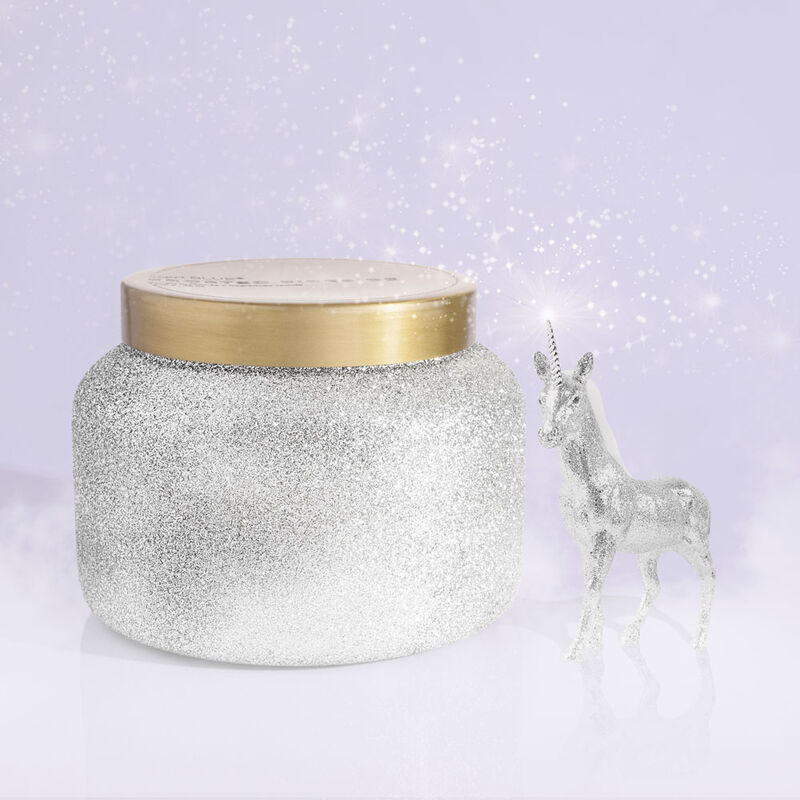 Frosted Fireside Glam Jumbo Candle Jar, 48 oz product in winter wonderland image number 1