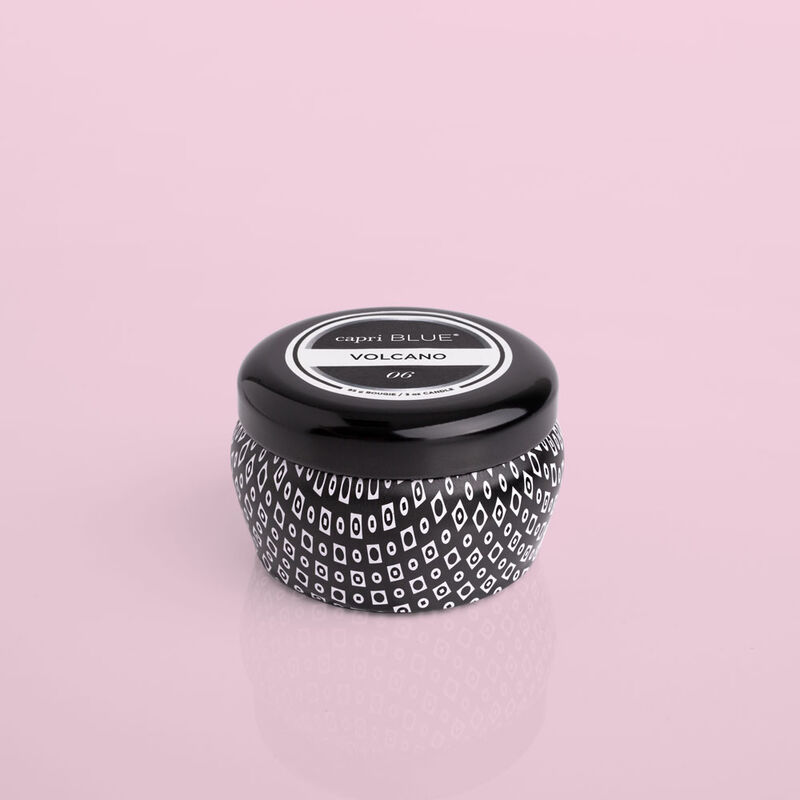 Volcano Black Mini Candle Tin, 3 oz product view image number 0
