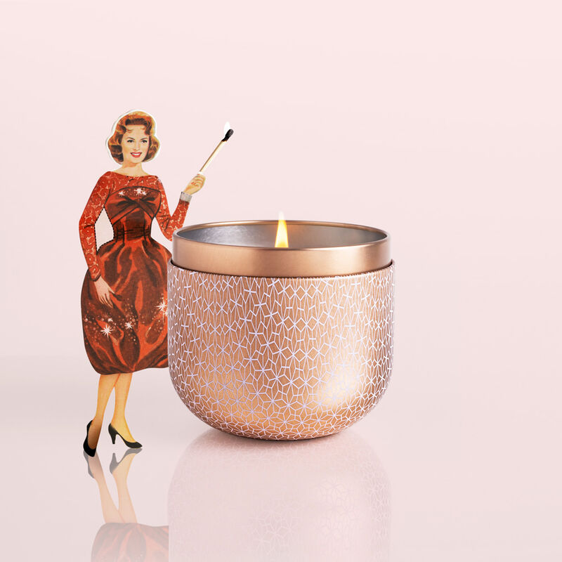 Pink Grapefruit & Prosecco Gilded Candle Tin, 12.5 oz Surprise and Delight image number 3