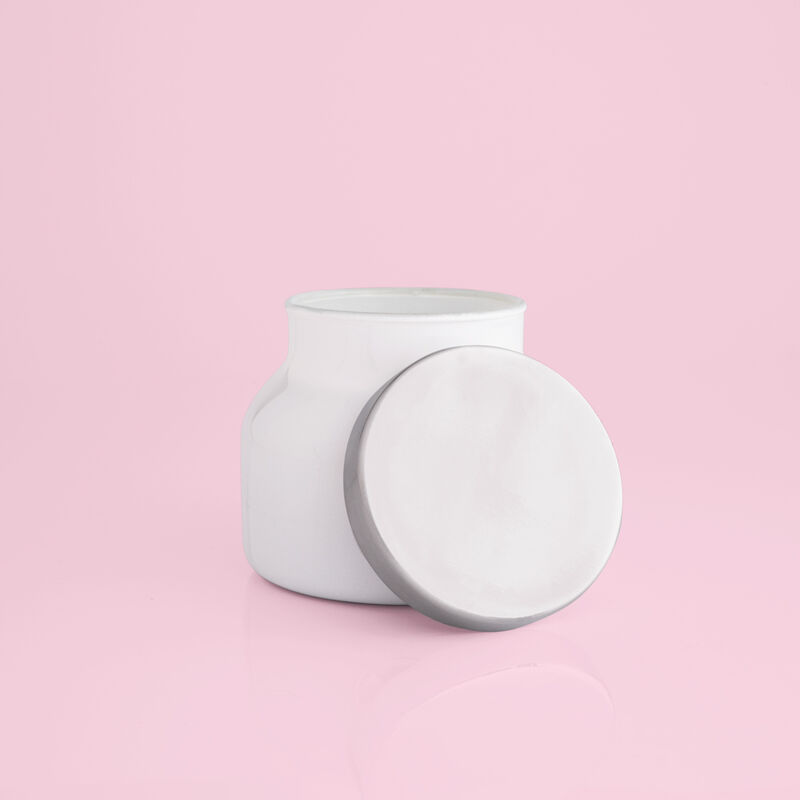 Volcano White Petite Candle Jar, 8 oz product with lid off image number 3