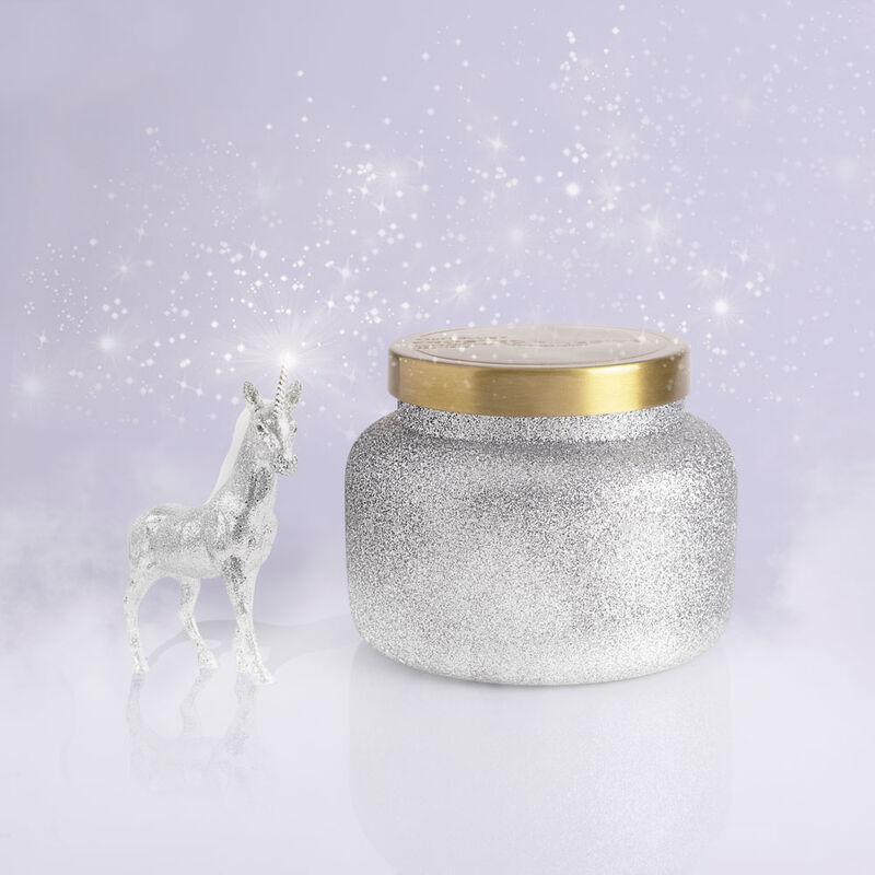 Frosted Fireside Glam Signature Candle Jar, 19 oz product in winter wonderland image number 1
