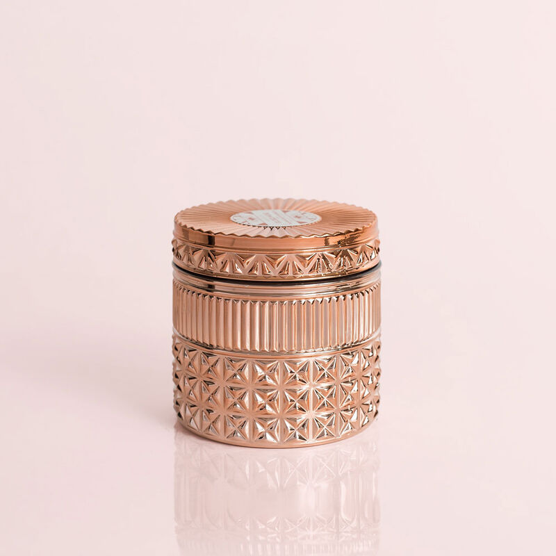Pink Grapefruit & Prosecco Gilded Faceted Candle Jar, 11 oz Candle with Lid Alt Shot 2 image number 2