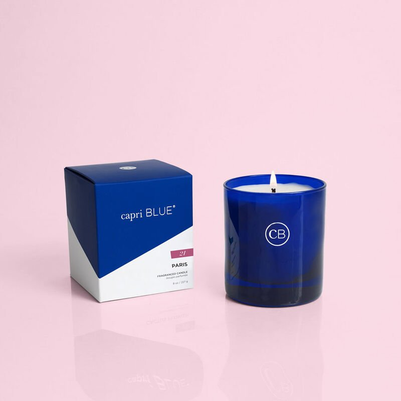 Paris Boxed Candle 8 oz, product when lit image number 3