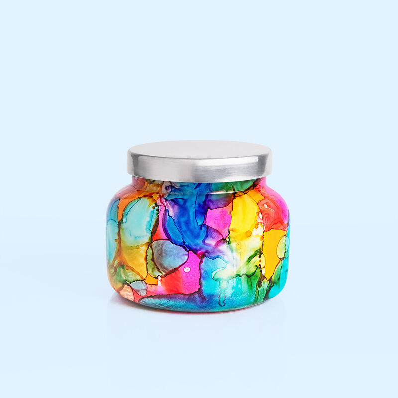 Volcano Rainbow Watercolor Signature Candle Jar, 19 oz Candle with Lid Alt View 2 image number 2