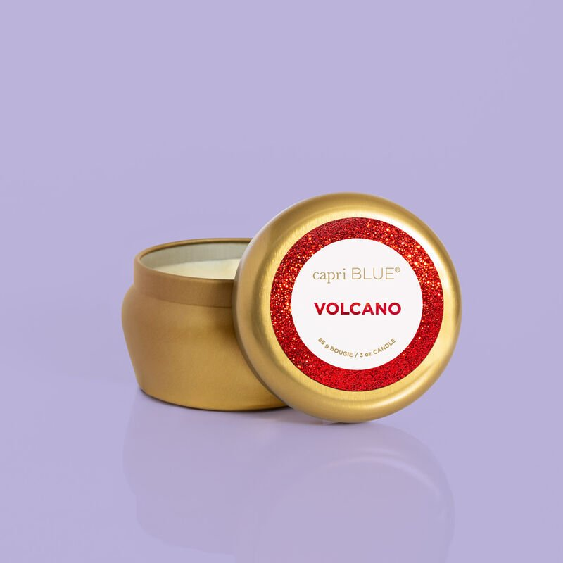 Volcano Glam Mini Candle Tin product with lid off image number 3