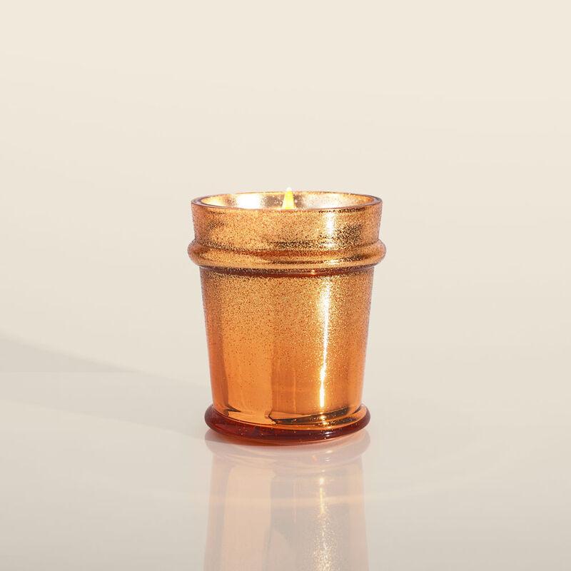 Pumpkin Dulce Glitz Glass Candle, 8oz Lid Off image number 3