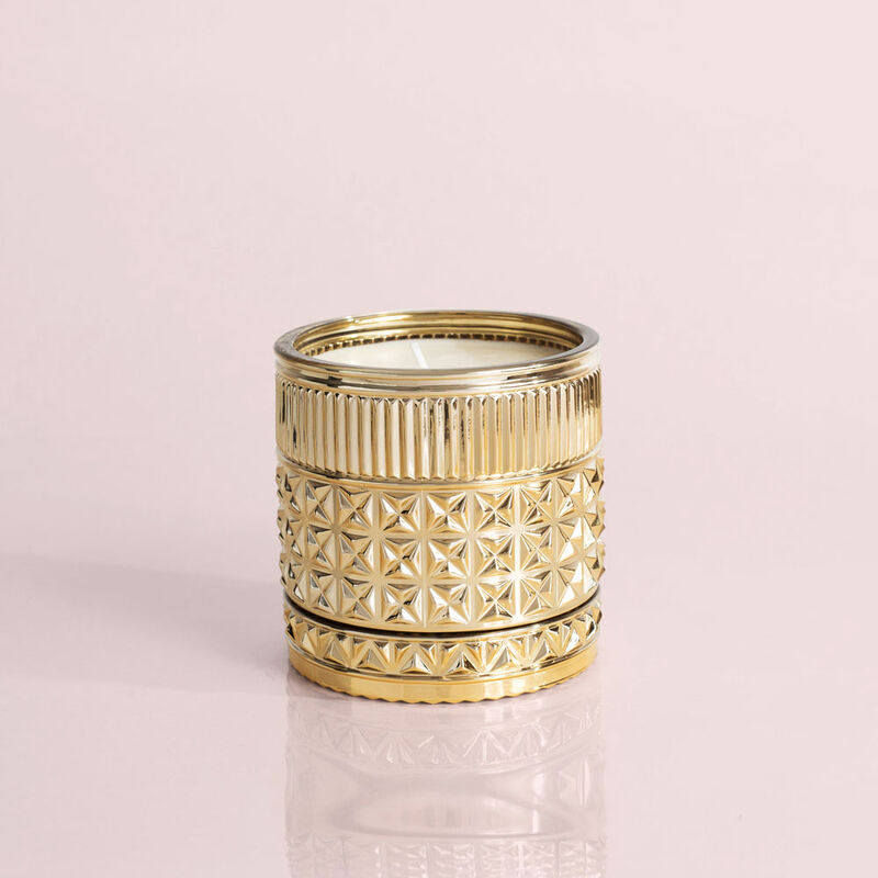 Exotic Blossom and Basil Gilded Faceted Candle Jar, 11 oz Candle without Lid image number 2