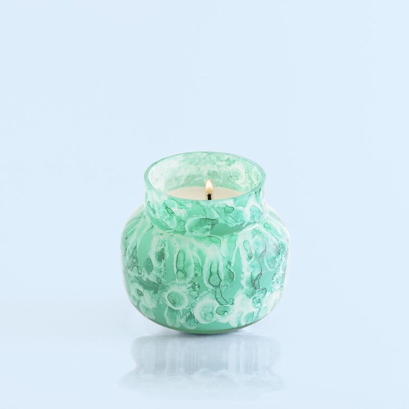 Volcano Watercolor Petite Candle Jar, 8 oz product view on tilt image number 3