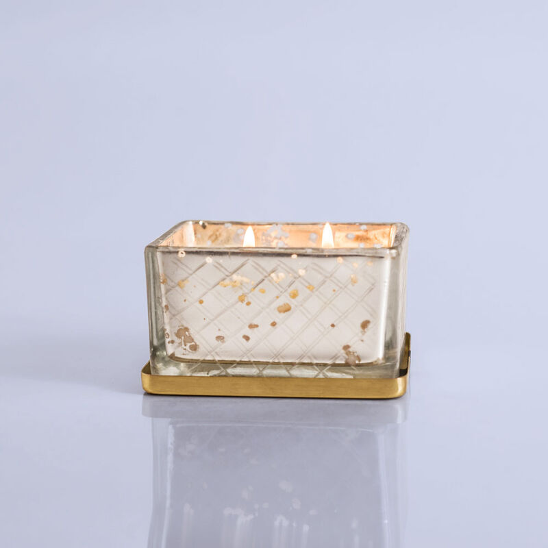 Volcano Mercury Jewel Box Candle, 4oz When Lit image number 1