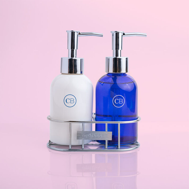 Blue Jean Sink Set Hand Wash and Lotion Duo in Caddy image number 0