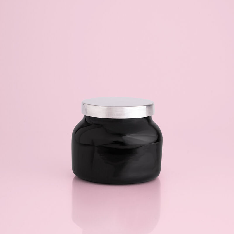 Volcano Black Petite Candle Jar, 8 oz rear product view image number 2