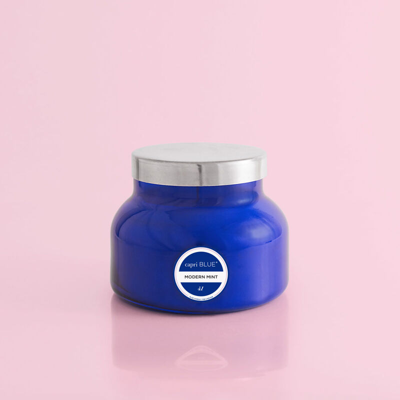 Capri Blue Modern Mint Blue Signature Jar, 19 oz Candle with Lid image number 0