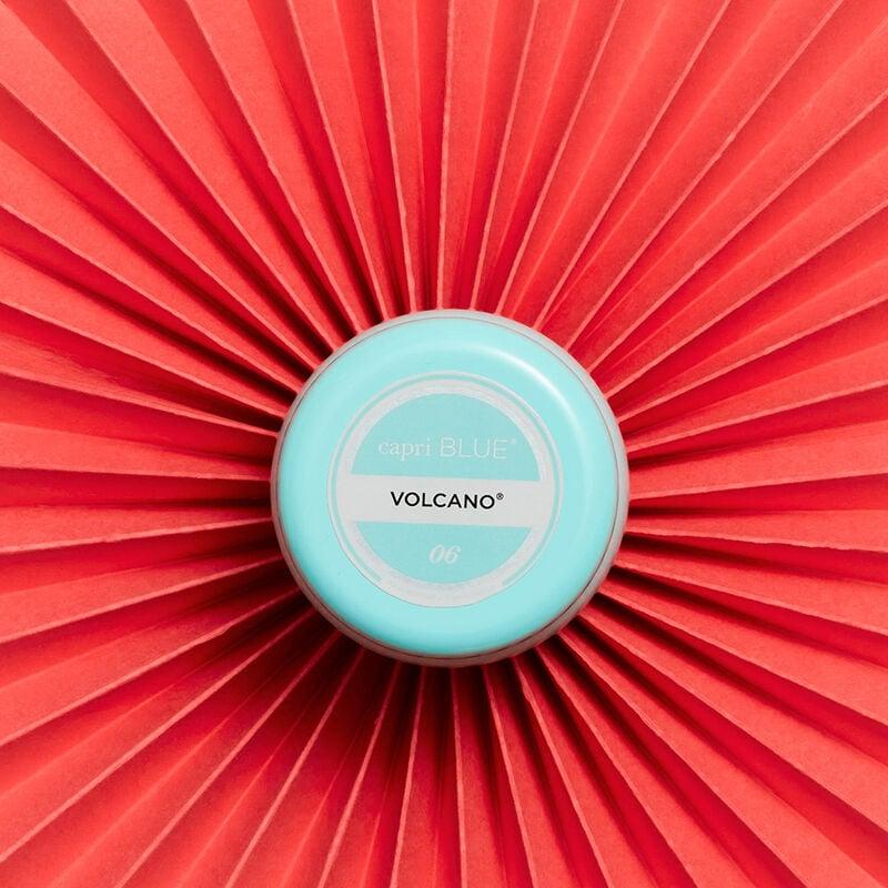 Volcano Aqua Printed Mini Candle Tin product on fan  image number 1