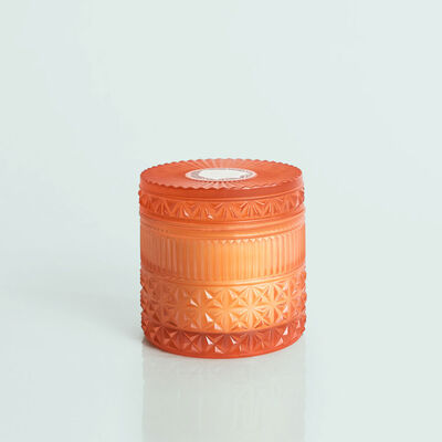 Pomegranate Citrus Faceted Jar, 11 oz Candle with Lid Alt View