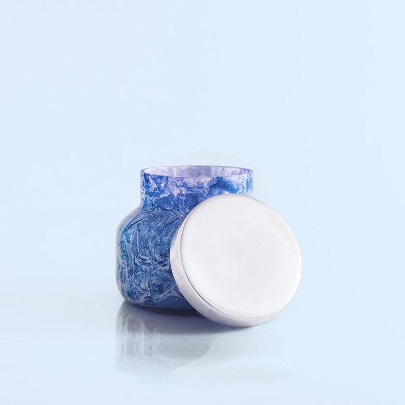 Blue Jean Watercolor Petite Jar, 8 oz product view Lid Off image number 4